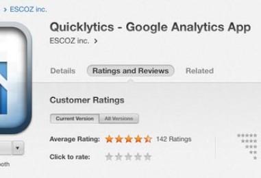 Quicklytics: tu app para Google Analytics